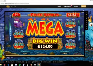 2 nights in a row the fish pay  1196x 30p bet