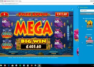 30p bet 1383x fish party £20 depo £450 out