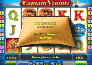 Captain Venture 2x 5 Scatter Bonus 1283x