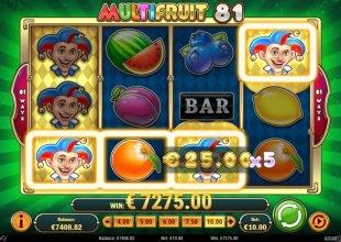 €7275 Multi Fruit Win