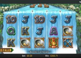 Wild falls 20p stake golden falls bonus
