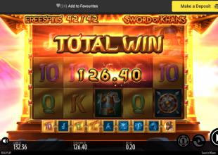 Small stakes rock !!! 20p stake Sword of khan bonus