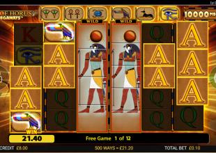 Eye of Horus great start and FREE MONEY 432x