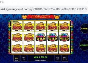Reel King Jackpot screen