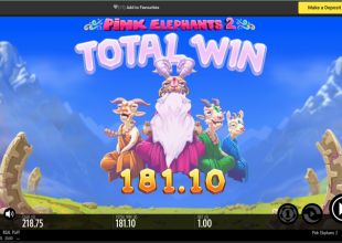 Sword and the grail , Fruit warp, and Pink Elephants £1stake