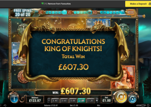 Tinkering again on Sword and the Grail  £1 stake