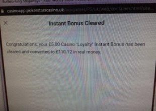 Pokerstars loyalty bonus to cash