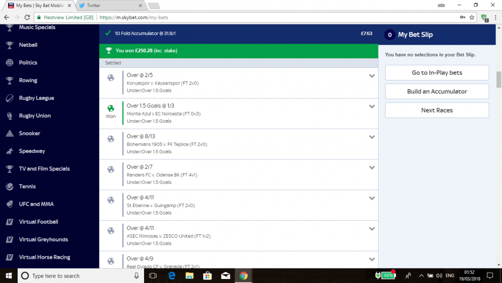 Footy Bets - Football - The Gambling Community