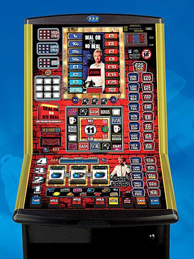 Antique one arm bandit slot machine