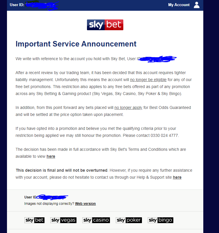 WTF Skybet - Complaints - The Gambling Community