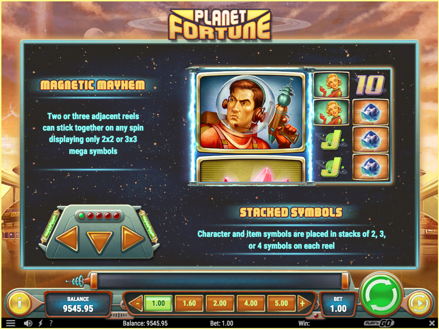 Planet Fortune Paytable1