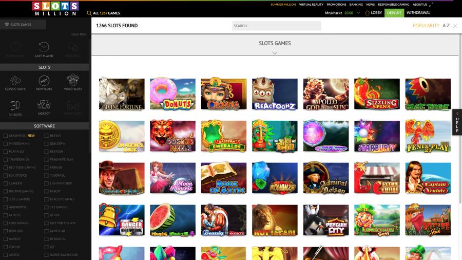 Slots Million Home Page TGC