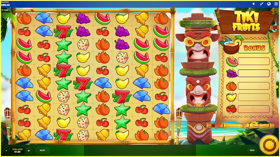 Tiki Fruits Paytable