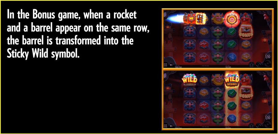 Rocket Fellas Paytable TGC