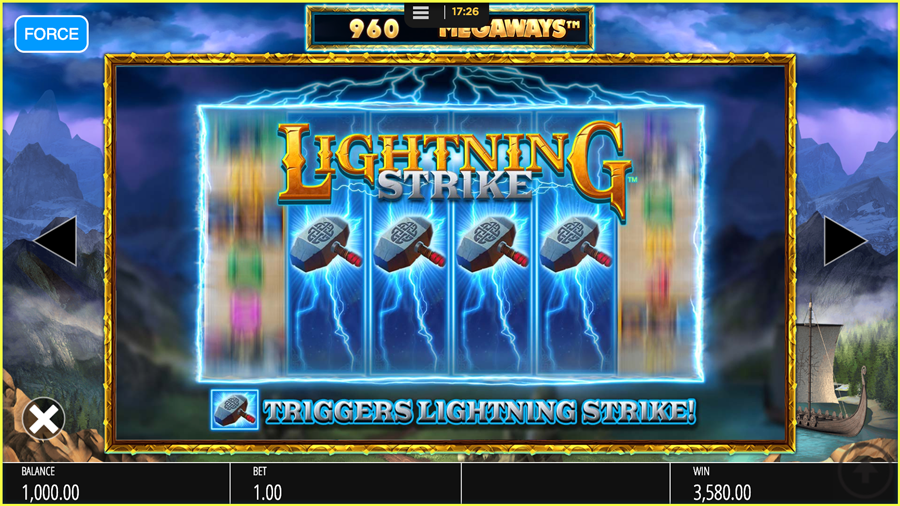 Lightning Strike Paytable TGC