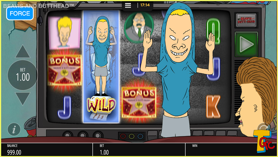 Blueprint Beavis and Butthead Paytable