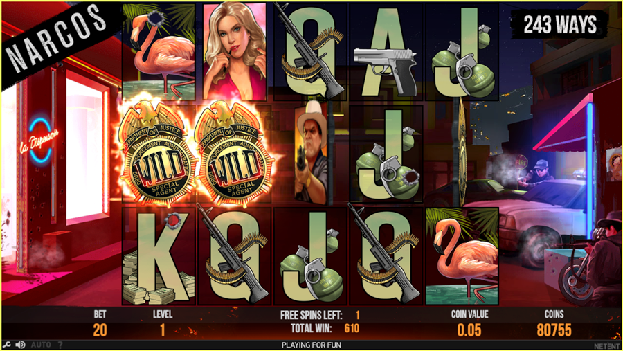 Netent Narcos Free Spins