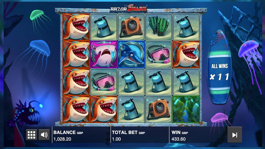 """Attēlu rezultāti vaicājumam """"razor shark big win"""""""