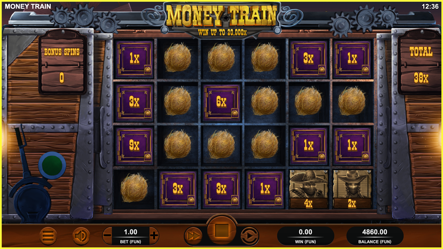 Money Train Paytable